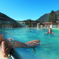 Outdoorpool, Therme St. Kathrein, Therapie, Wellness, Sauna, Bad Kleinkirchheim